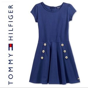 NEW TOMMY HILFIGER Short Sleeve Fit & Flare DRESS